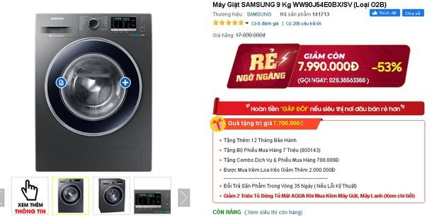 Nhiều máy giặt, máy sấy đang được sale mạnh, mua ngay tiết kiệm được bạc triệu - Ảnh 9.