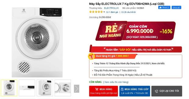 Nhiều máy giặt, máy sấy đang được sale mạnh, mua ngay tiết kiệm được bạc triệu - Ảnh 15.