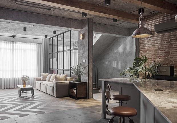 Penthouse 3 tầng của vợ chồng Khởi My - Kelvin Khánh: Độ đầu tư gây choáng, riêng phòng bếp chất như quán cafe - Ảnh 1.