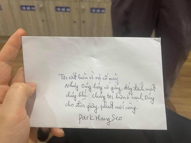 HLV Park Hang-seo gửi thư tay cho Hùng Dũng: Chúng tôi luôn ở cạnh Dũng đến giây phút cuối cùng - Ảnh 1.