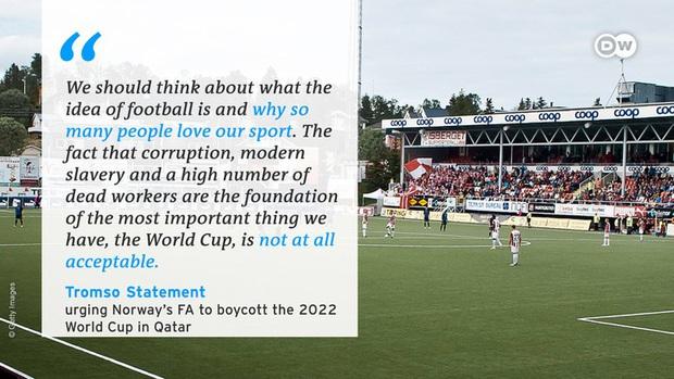 Hơn 6.500 công nhân chết vì xây dựng cơ sở hạ tầng ở Qatar, tuyển Na Uy mặc áo tẩy chay chủ nhà World Cup 2022 - Ảnh 6.