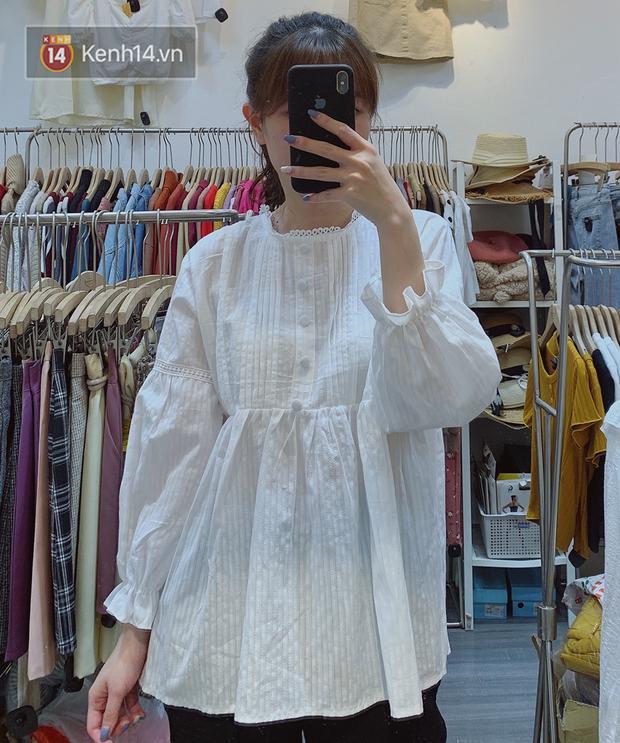Nghe bảo Hà Nội sắp nắng ấm, mình đã ghé các shop tìm áo blouse bánh bèo bao xinh giá chỉ từ 230K - Ảnh 12.