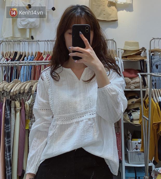 Nghe bảo Hà Nội sắp nắng ấm, mình đã ghé các shop tìm áo blouse bánh bèo bao xinh giá chỉ từ 230K - Ảnh 14.