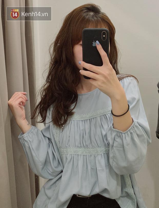 Nghe bảo Hà Nội sắp nắng ấm, mình đã ghé các shop tìm áo blouse bánh bèo bao xinh giá chỉ từ 230K - Ảnh 2.