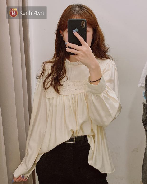 Nghe bảo Hà Nội sắp nắng ấm, mình đã ghé các shop tìm áo blouse bánh bèo bao xinh giá chỉ từ 230K - Ảnh 4.