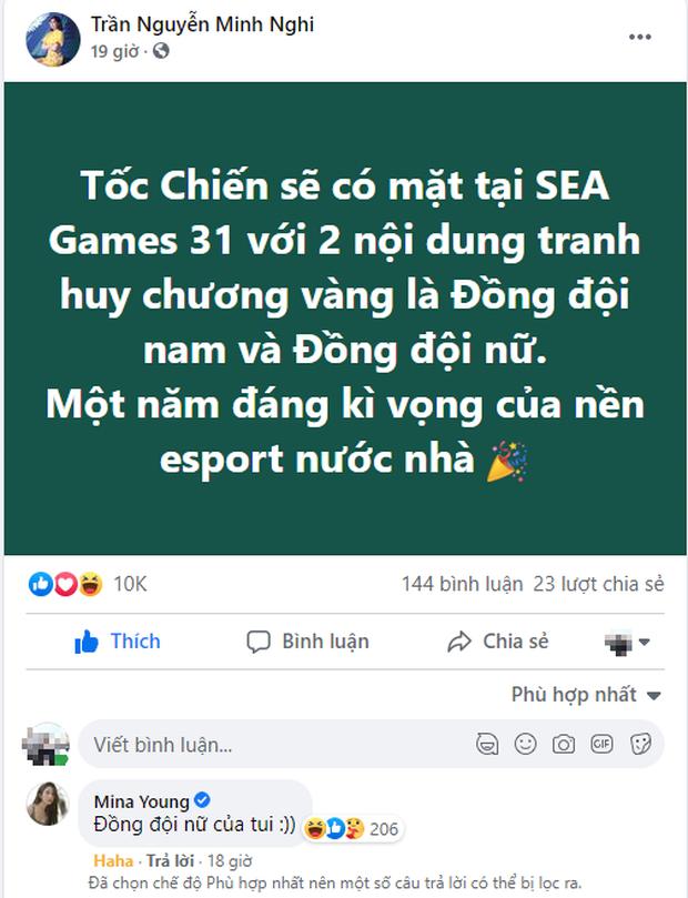 Minh Nghi tạm gác nghiệp MC để làm tuyển thủ Tốc Chiến một lần, cùng Mina Young lập team, úp mở đi SEA Games - Ảnh 4.