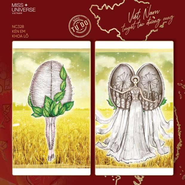 Trang phục dân tộc của Khánh Vân bị tố đạo nhái Hoa hậu Myanmar ngay sau khi công bố - Ảnh 1.