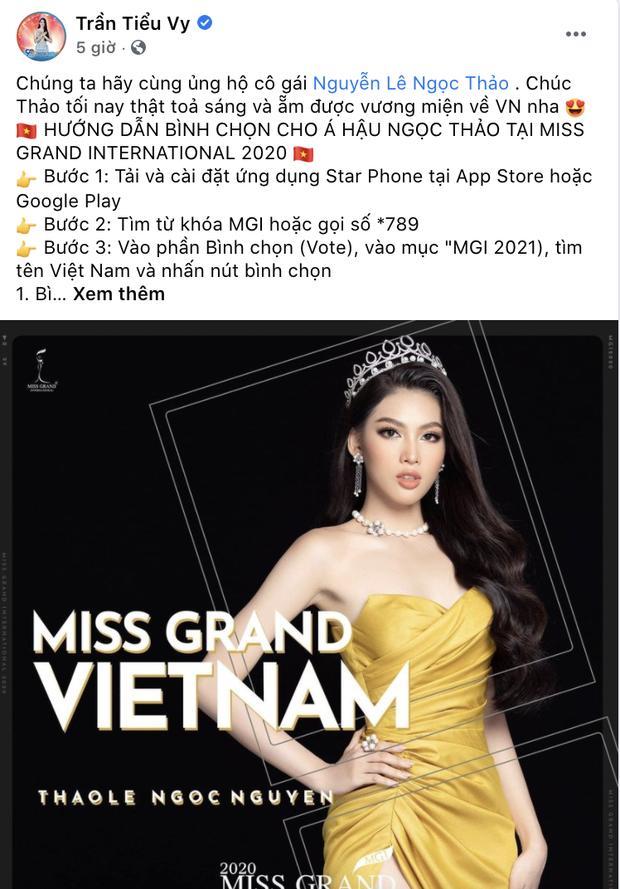 Sao Vbiz rần rần kêu gọi tiếp thêm sức mạnh, kỳ vọng Ngọc Thảo làm nên chuyện ở đêm Chung kết Miss Grand 2020 - Ảnh 6.