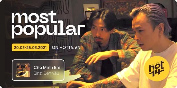 Liên minh BLACKPINK Đen Vâu và Binz chỉ mất 1 ngày để vào thẳng top bài hát tuần, cạnh tranh No.1 cùng Văn Mai Hương và Jack - Ảnh 8.