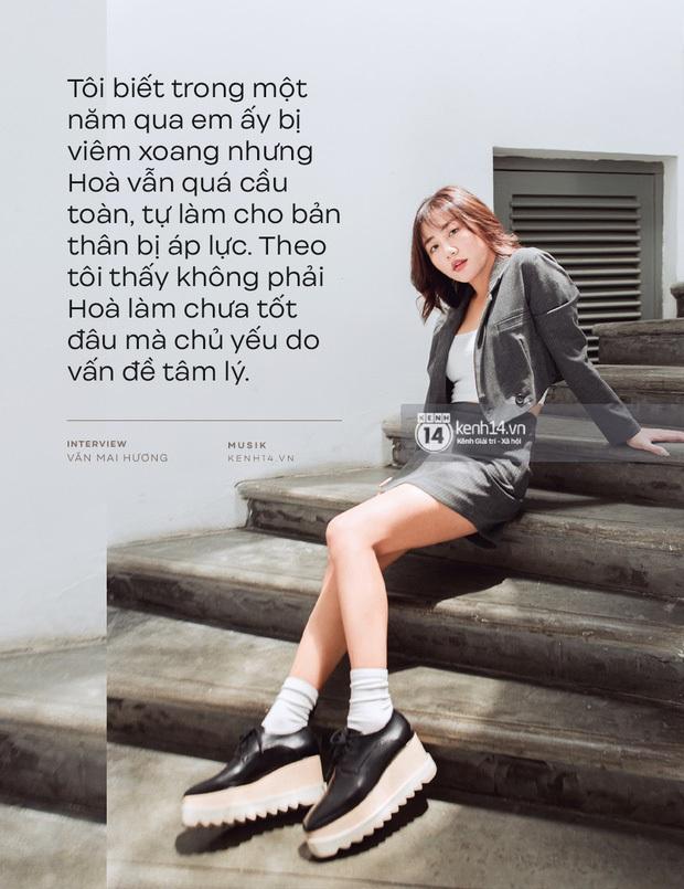 Hòa Minzy khiến hết Văn Mai Hương đến Hứa Kim Tuyền lo lắng về chuyện quá cầu toàn trong giọng hát - Ảnh 2.