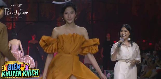 Hoàng Thùy bùng nổ visual, trái ngược lớp makeup già sưng của Minh Tú tại BST Flourish18 của Ivy Moda - Ảnh 6.