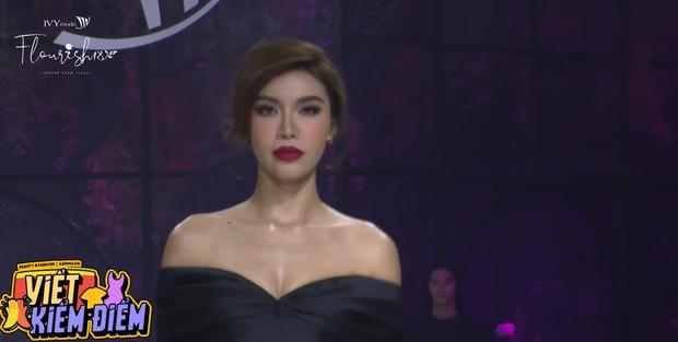 Hoàng Thùy bùng nổ visual, trái ngược lớp makeup già sưng của Minh Tú tại BST Flourish18 của Ivy Moda - Ảnh 5.