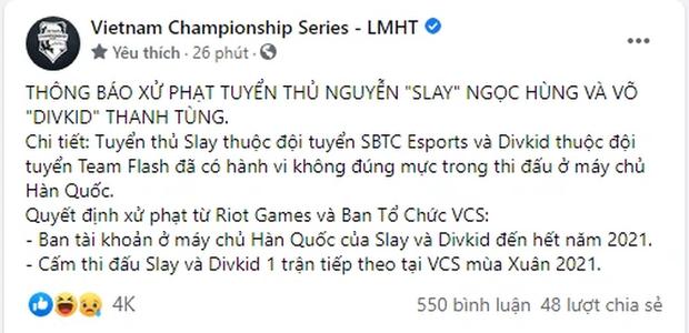 Divkid và Slay bị phạt cấm thi đấu, SE và Team Flash gặp khó - Ảnh 1.