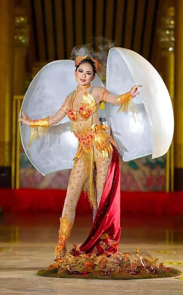 Trang phục dân tộc của Khánh Vân bị tố đạo nhái Hoa hậu Myanmar ngay sau khi công bố - Ảnh 4.