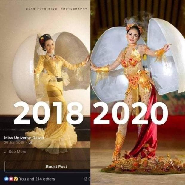 Trang phục dân tộc của Khánh Vân bị tố đạo nhái Hoa hậu Myanmar ngay sau khi công bố - Ảnh 6.