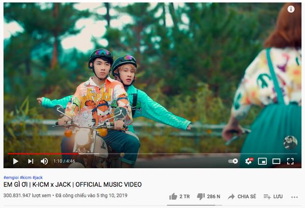 MV Em Gì Ơi cán mốc 300 triệu views nhưng cả Jack lẫn K-ICM đều không thể ăn mừng - Ảnh 2.