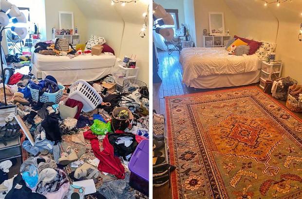 Nhìn loạt ảnh trước và sau khi dọn dẹp mà choáng: Không có căn nhà nào xấu, chỉ do bạn lười thôi! - Ảnh 7.