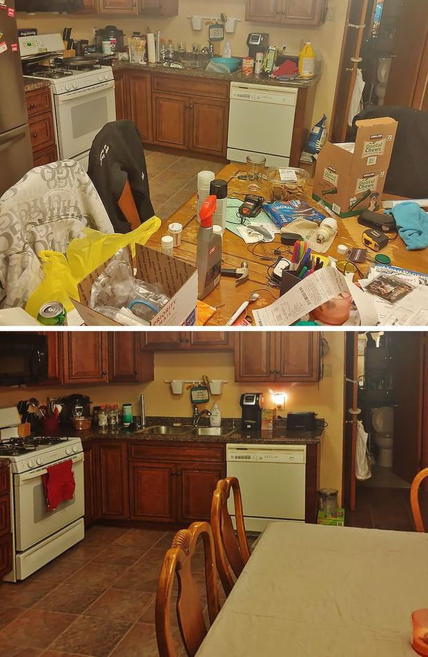Nhìn loạt ảnh trước và sau khi dọn dẹp mà choáng: Không có căn nhà nào xấu, chỉ do bạn lười thôi! - Ảnh 11.