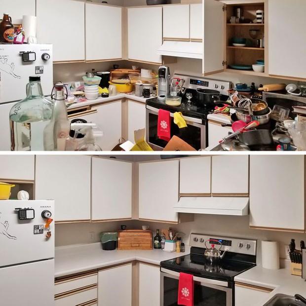 Nhìn loạt ảnh trước và sau khi dọn dẹp mà choáng: Không có căn nhà nào xấu, chỉ do bạn lười thôi! - Ảnh 9.