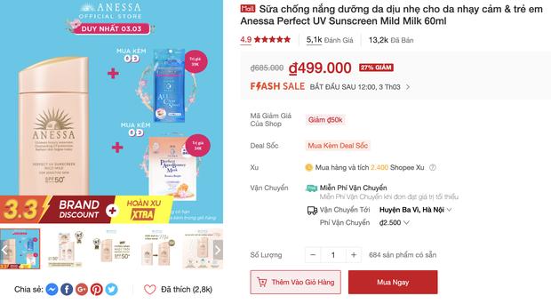 Săn sale 3/3: List mỹ phẩm chính hãng hot hit giảm giá ác liệt, từ 145k sắm được đồ xịn - Ảnh 3.