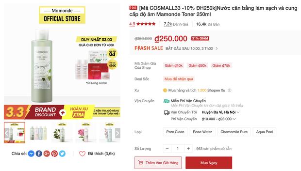 Săn sale 3/3: List mỹ phẩm chính hãng hot hit giảm giá ác liệt, từ 145k sắm được đồ xịn - Ảnh 21.