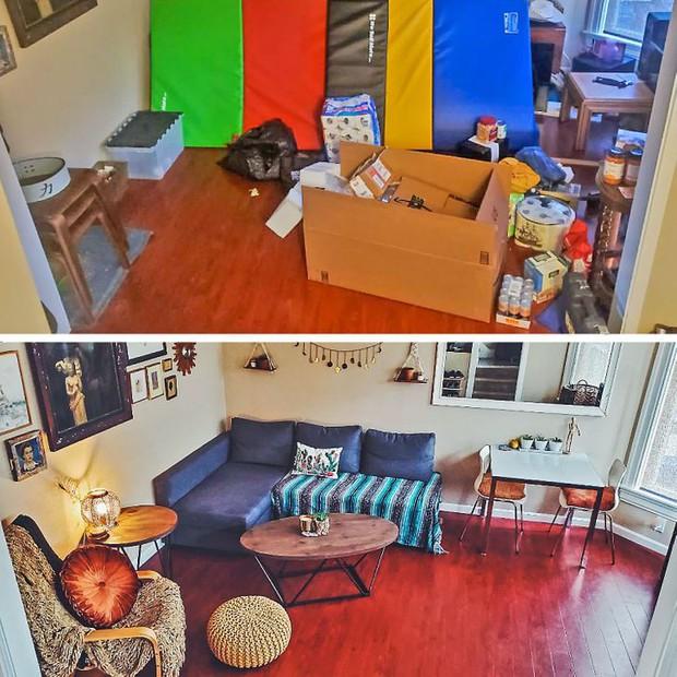 Nhìn loạt ảnh trước và sau khi dọn dẹp mà choáng: Không có căn nhà nào xấu, chỉ do bạn lười thôi! - Ảnh 13.