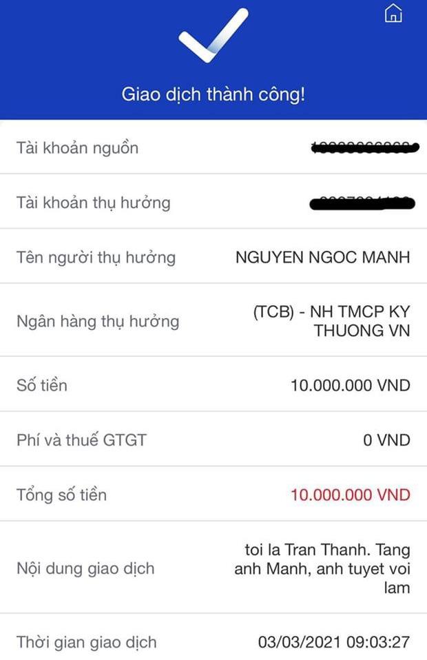 Trấn Thành tặng quà người hùng Super Mạnh 10 triệu đồng, Facebook lập tức xuất hiện đầy rẫy tài khoản mạo danh xin tài trợ trơ trẽn! - Ảnh 2.