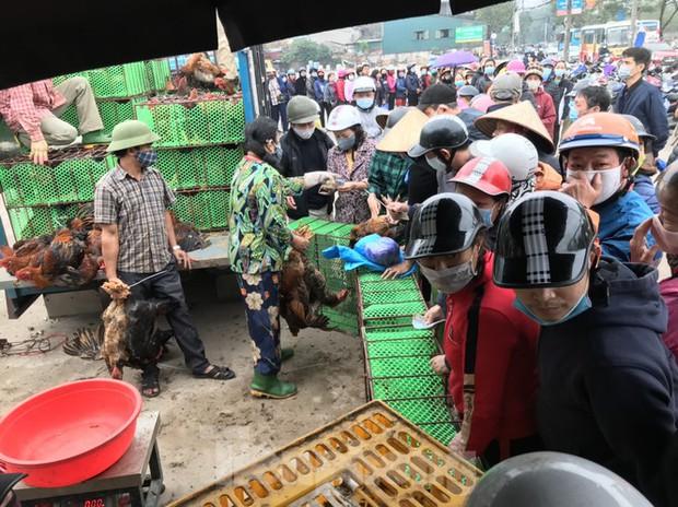 Người dân Hà Nội xếp hàng rồng rắn giải cứu gà đồi Chí Linh - Ảnh 2.