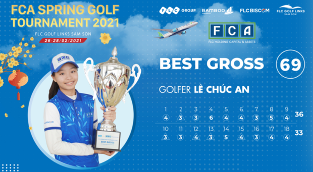 13 tuổi bạn ở nhà làm bài tập, cô bé Việt làm 69 gậy vô địch luôn giải golf - Ảnh 1.