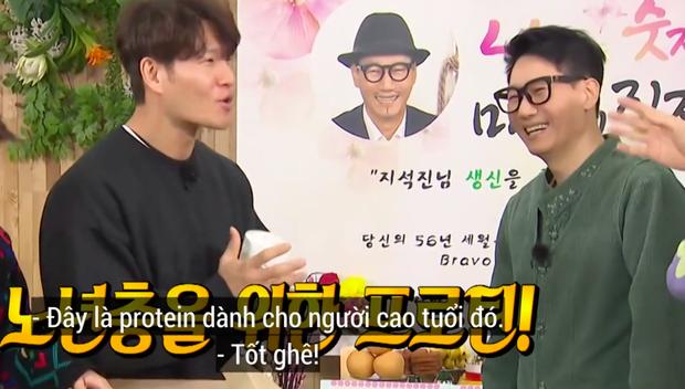"""Lại thêm khoảnh khắc xúc động tại Running Man: """"Bố già"""" Ji Suk Jin được các thành viên mừng thọ long trọng - Ảnh 10."""