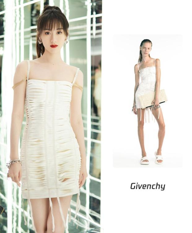 Hết dính nghi án copy Triệu Lệ Dĩnh, Viên Băng Nghiên lại đụng đầm Givenchy với mỹ nhân aespa - Ảnh 4.