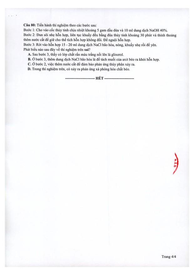 Đề thi minh họa THPT Quốc gia 2021 môn Hóa học - Ảnh 4.