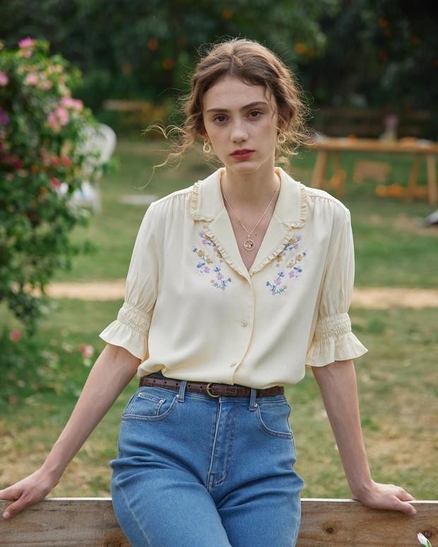 Điểm mặt 5 kiểu áo sơ mi của phụ nữ Pháp, chỉ cần diện đơn giản cũng đạt 100 điểm tinh tế! - Ảnh 14.