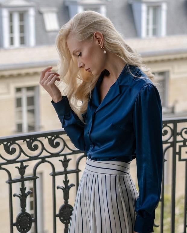 Điểm mặt 5 kiểu áo sơ mi của phụ nữ Pháp, chỉ cần diện đơn giản cũng đạt 100 điểm tinh tế! - Ảnh 4.