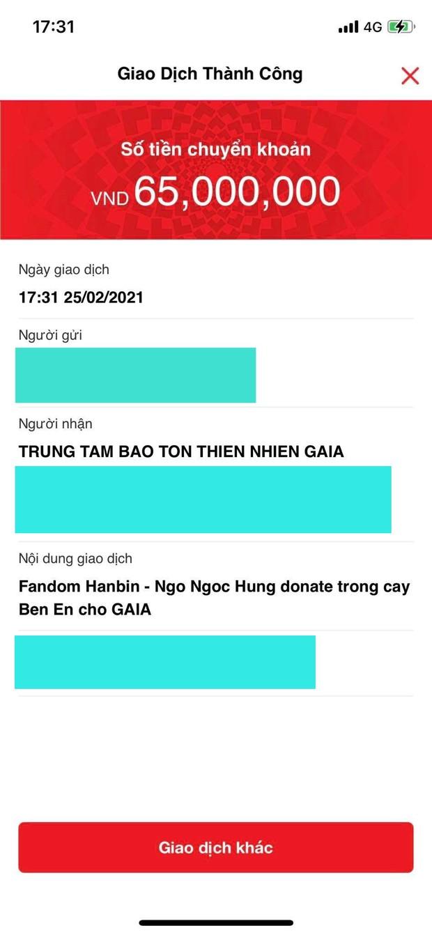 Fandom của Hanbin (I-LAND) quyên góp gần 70 triệu đồng, ủng hộ 1000 cây xanh tại vườn quốc gia Bến En - Ảnh 4.