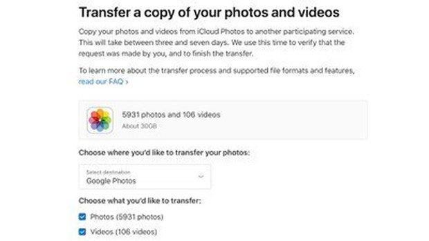 Apple cho chuyển ảnh từ iCloud sang Google Photos - Ảnh 1.