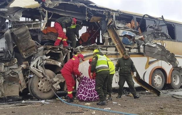 Tai nạn xe bus ở Bolivia khiến ít nhất 21 người chết, hơn 20 người bị thương - Ảnh 1.