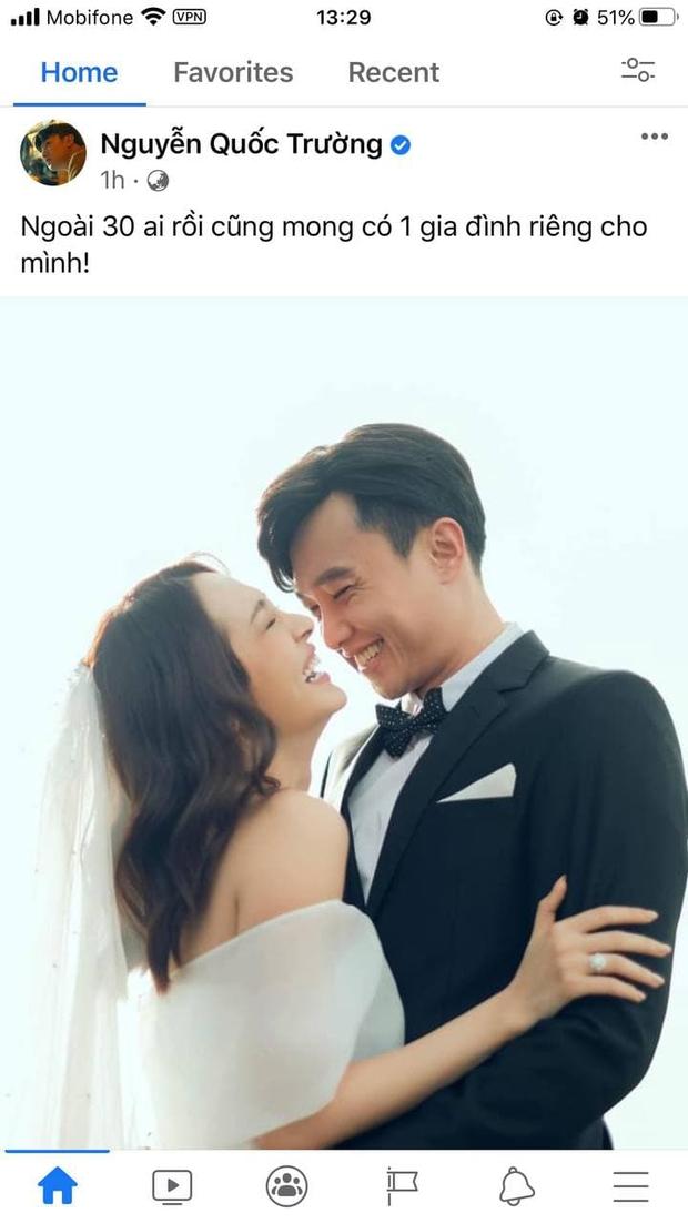 Chính thức hé lộ ảnh cưới của Quốc Trường - Bảo Anh, Tiến Luật và dàn sao liên tục chúc phúc, nhưng sự thật là sao? - Ảnh 2.