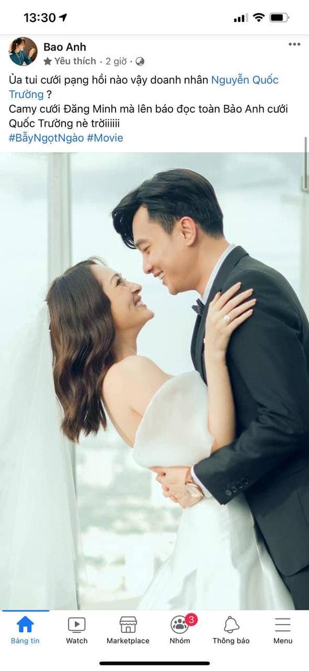 Chính thức hé lộ ảnh cưới của Quốc Trường - Bảo Anh, Tiến Luật và dàn sao liên tục chúc phúc, nhưng sự thật là sao? - Ảnh 5.