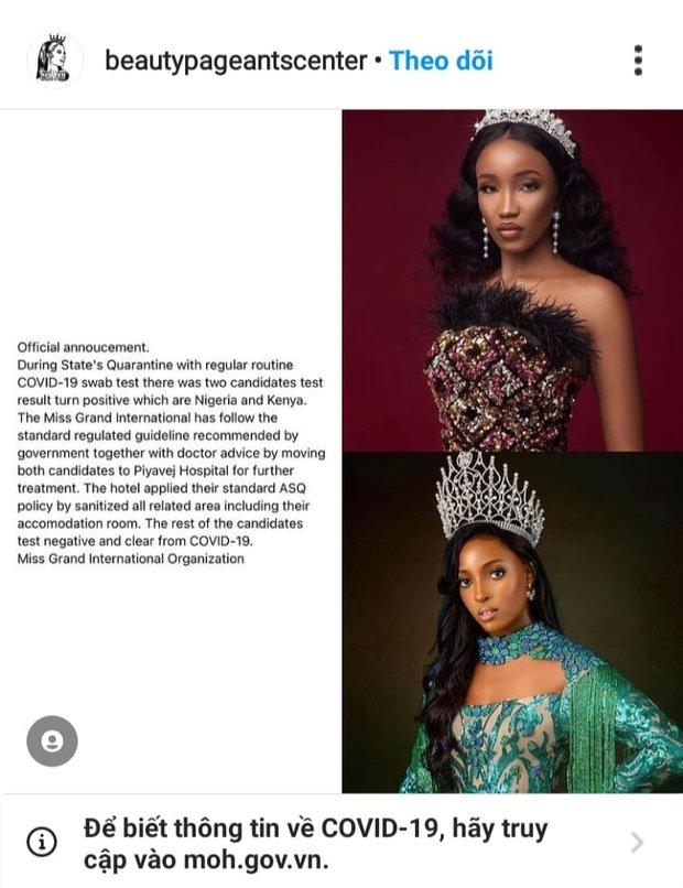 Biến mới tại Miss Grand International: 2 đại diện Nigeria và Kenya nhiễm Covid-19, netizen lo lắng cho Á hậu Ngọc Thảo - Ảnh 3.