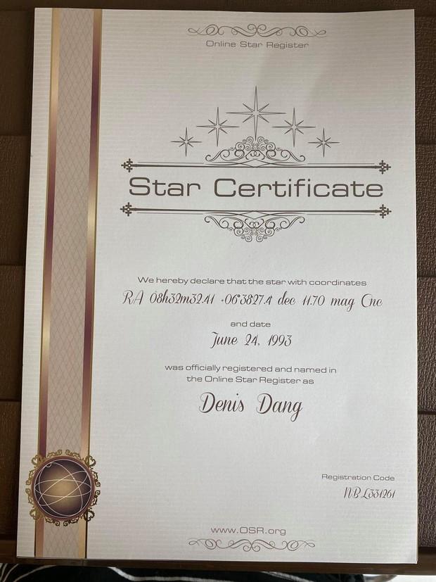 Fan mua hẳn 5 ngôi sao trên trời để tặng Denis Đặng khi chỉ mới nghe sương sương về dự án mới - Ảnh 2.