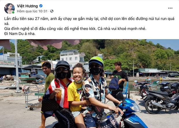 Gia đình NS Việt Hương lái xe máy đi phượt nhưng gây tranh cãi vì 1 chi tiết, chính chủ phải lên tiếng ngay và luôn - Ảnh 2.