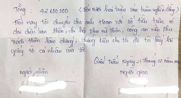 Vụ vợ bị chồng đòi 42 triệu tiền ăn và tiền khám sản trước khi ly hôn: Chính quyền địa phương lên tiếng - Ảnh 3.