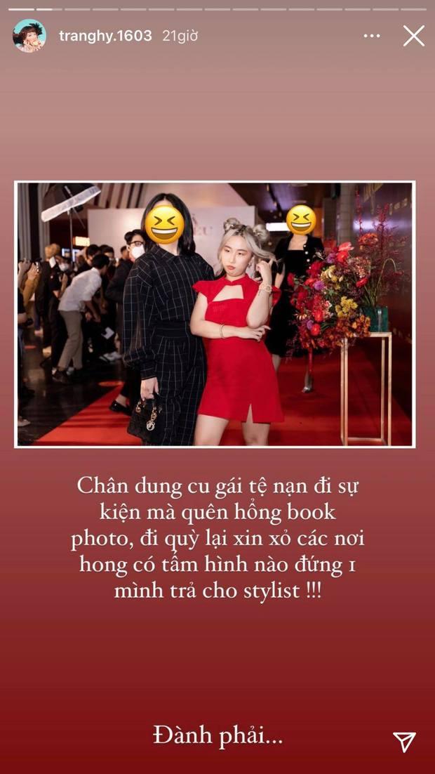 Bể muối Trang Hý trổ tài xoay xở khi đi sự kiện mà không có ảnh trả cho stylist làm dân tình cười muốn rụng rốn - Ảnh 1.