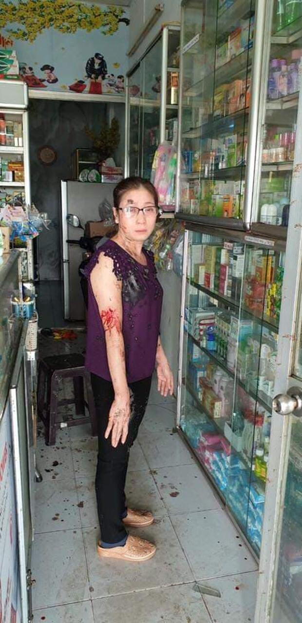 Nữ chủ tiệm thuốc tây bị khủng bố bằng sơn, mắm tôm vì em trai mượn tiền giang hồ không trả - Ảnh 3.
