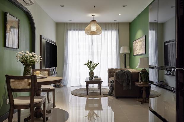 Trai độc thân chi 350 triệu tân trang lại căn hộ Vinhomes, phong cách Indochine hoài cổ khiến ai nhìn cũng mê mẩn - Ảnh 2.