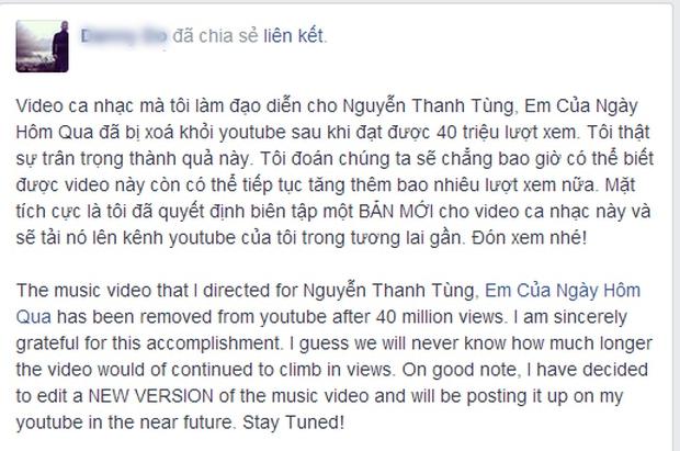 MV Em Của Ngày Hôm Qua từng bay màu một lần vào năm 2014, nhưng cách phản ứng của Sơn Tùng xưa và nay khác nhau hoàn toàn - Ảnh 2.