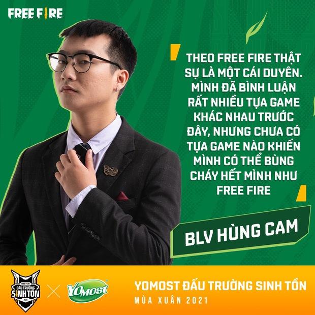 """Caster Free Fire Hùng Cam: """"Khoảnh khắc được hô vang tên các đại diện Việt Nam... là rất đáng tự hào và không thể nào quên - Ảnh 3."""