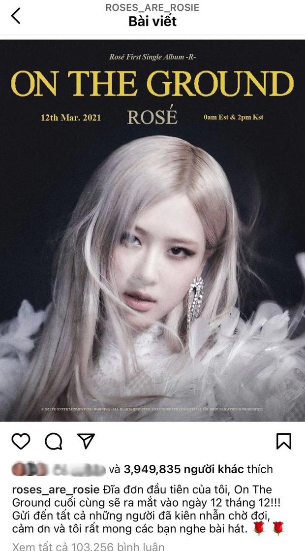 Đang yên đang lành, chính Rosé (BLACKPINK) lại thông báo với fan Việt đổi ngày ra mắt thành 12/12 là sao đây? - Ảnh 2.