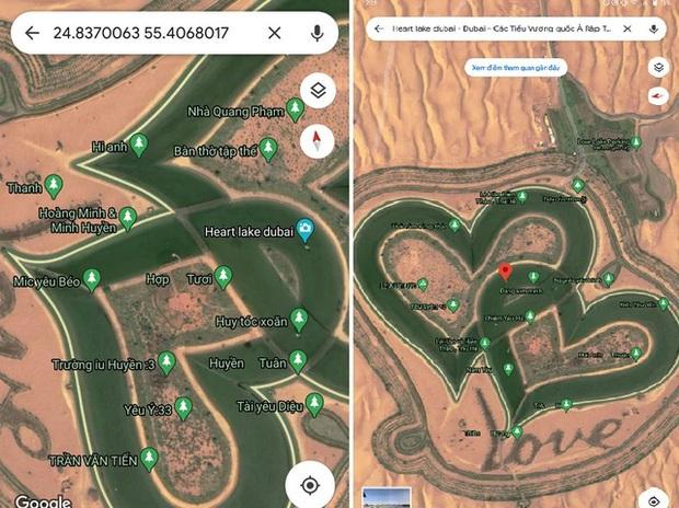 Hồ tình yêu Dubai phục hồi nguyên bản trên Gmaps sau khi bị dân mạng Việt phá rối - Ảnh 2.